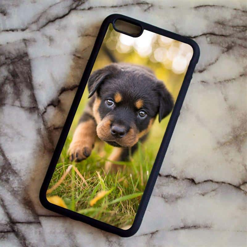 rottweiler puppy phone cover