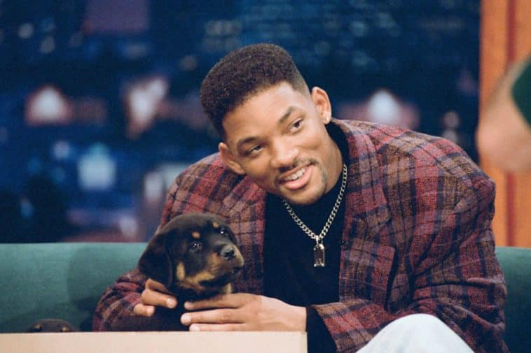 Will Smith with his Rottie